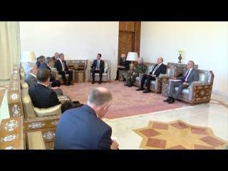 Переговоры Министра обороны РФ Сергея Шойгу с президентом Сирийской Арабской Республики Башаром Асадом в Дамаске