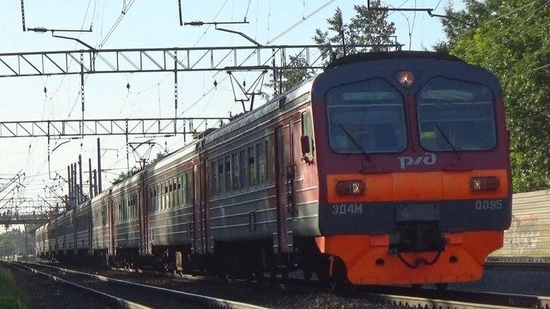 Электропоезд ЭД4М-00950119 с рейсом Москва Казанская - Виноградово