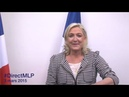 DirectMLP : Marine Le Pen s'adresse aux Français