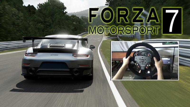 BEST RACING GAME! Porsche 911 GT2 RS 2018 Forza Motorsport 7 Steering Wheel Gameplay
