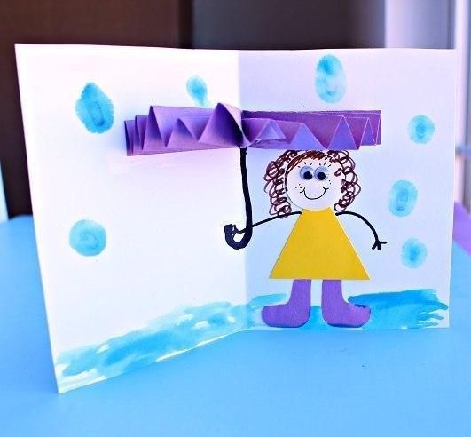 Объемная открытка детская 91