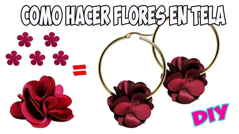 Como Hacer Flores En Tela para Aretes