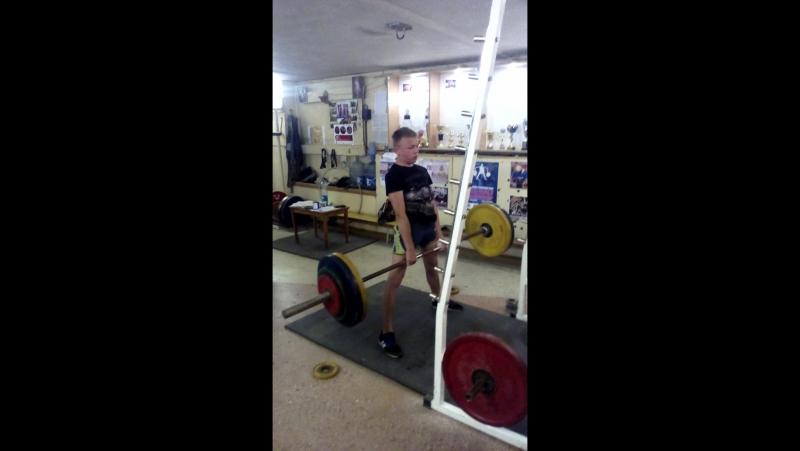 Трусевич Владислав 15 лет собственный вес 46 кг становая тяга 120 кг