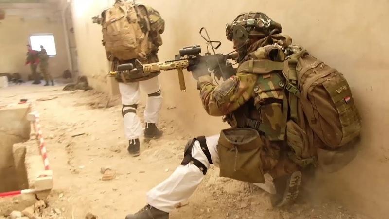 Dutch Infantry Urban Close Quarter Combat Military Training