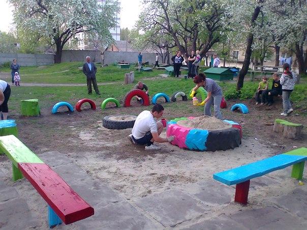 Как сделать детскую площадку своими руками фото