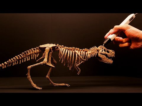 3D pen | How to make T-Rex skeleton | 3D펜 티라노사우르스 만들기