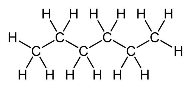 строение молекулы н-гексана