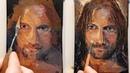 No Mere Ranger Oil Painting Palette Knife Brush Impressionism Portrait Dusan