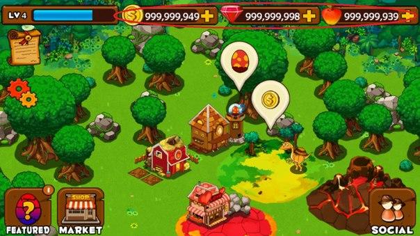 Игра: Dino Island особенность много денег