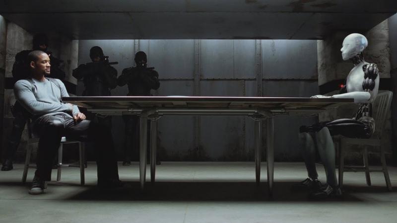 Детектив Дэл Спунер допрашивает Санни Я робот 2004