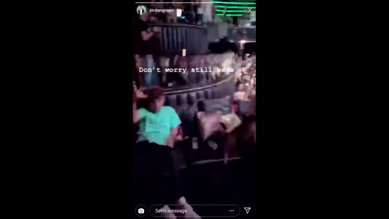 Jordan Green posted this video of Louis living it up in Ibiza on his Instagram story - -