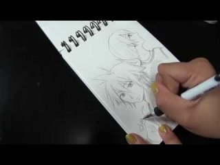 Sora and Kairi from Kingdom Hearts. Sketch Speed Drawing