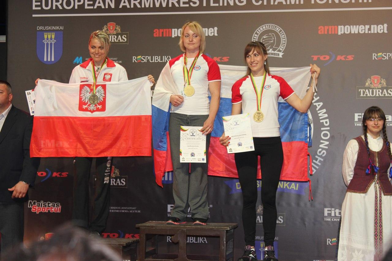 Ekaterina Nikisheva - 3rd place / bronze medal at the 23rd European Armwrestling Championships 2013, Druskininkai, Lithuania │ Image Source: Katerina Nikisheva