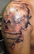 Где только не придумают сделать себе тату любитель татуировок.