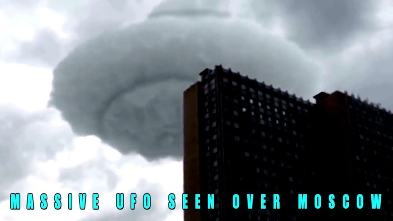 Large UFO Seen Hovering Over A Building In Moscow.