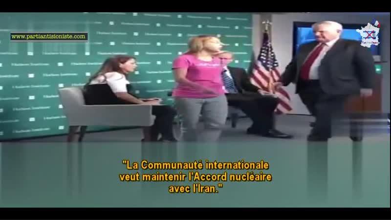 Intervention d'une activiste américaine anti-guerre (2min04s)