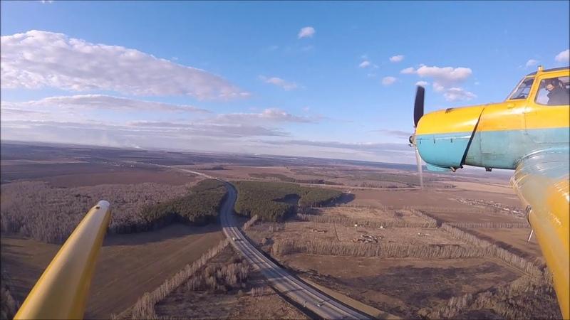 Полет на Як 18Т Бочка конвеер