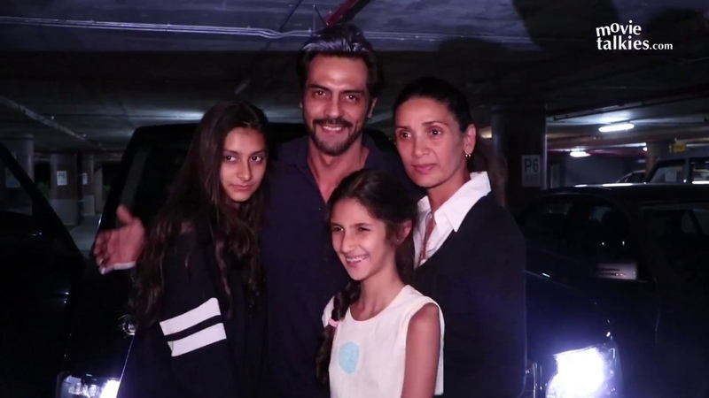 Arjun Rampal Spotted With Wife Daughters At Mumbai Airport