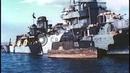 Italian ships at Taranto harbor, Italy after the Italians surrender to the Stock Footage