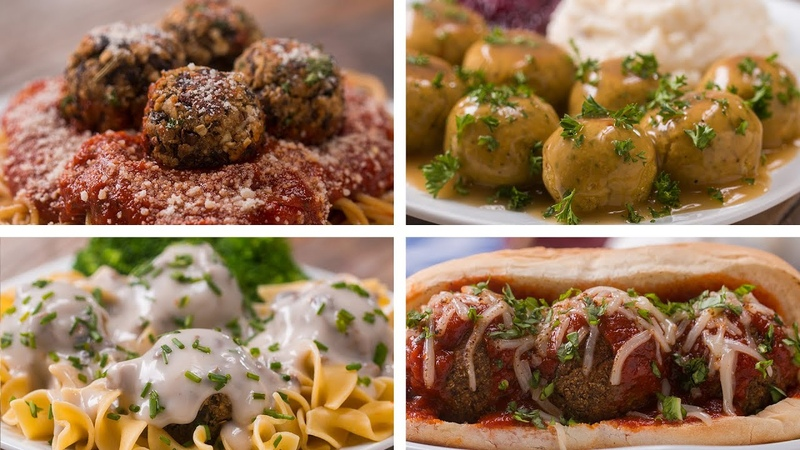 Meatless Meatballs 4 Ways