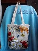 Декор предметов Вышивка Сумочки вышитые ленточками Ленты фото 1.
