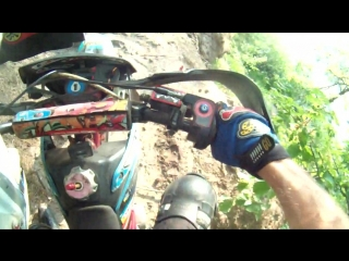 Enduro in the woods (offroad pitbike)