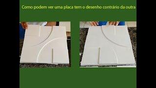 Molde para placa de gesso 3D feito em EVA
