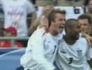 ЧМ 2006 Дэвид Бекхэм Англия мяч в ворота Эквадора