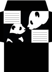 Черно белые шаблоны конвертов