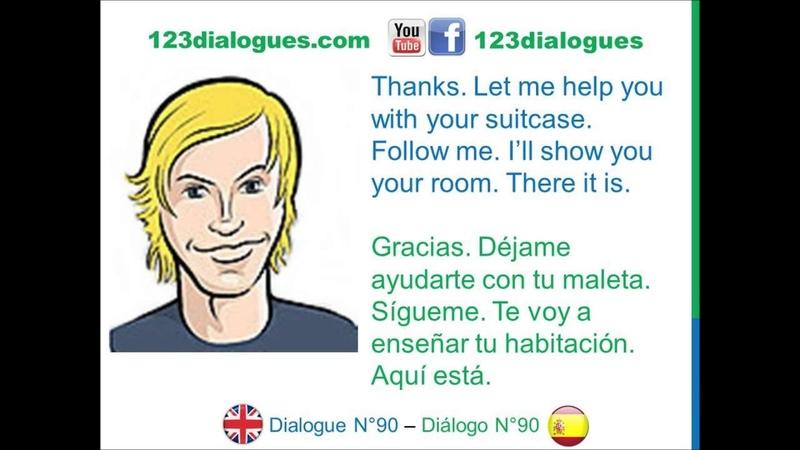 Dialogue 90 - Inglés Spanish - Receiving a guest - Recibir a un invitado