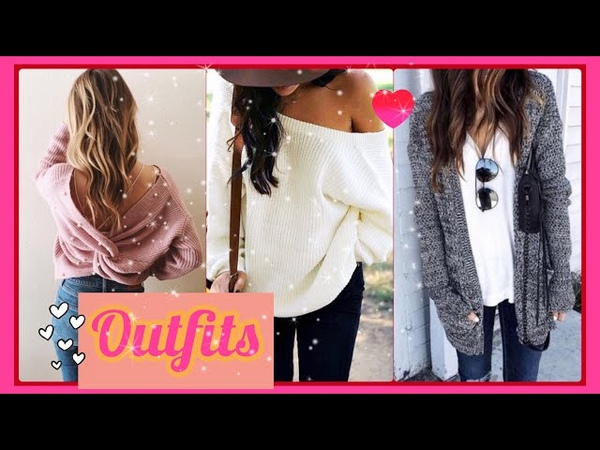 OUTFITS CASUALES 2018 2019 MUJER OTOÑO INVIERNO | 50 OUTFITS CON JEANS Y SUÉTER/OUTFITS CON TENIS