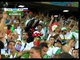 احتفال المنتخب الجزائري بالفوز على روسيا &#16