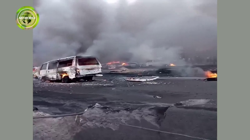 PETROLEUM TANKER EXPLOSION ON OTEDOLA BRIDGE IN LAGOS