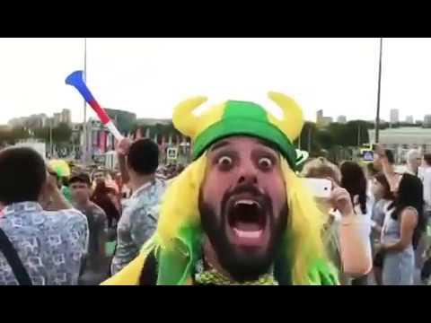 Россия ахуенно братан!! ЧМ 2018!! Безумный болельщик Бразилии