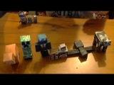 minecraft из бумаги 2 серия