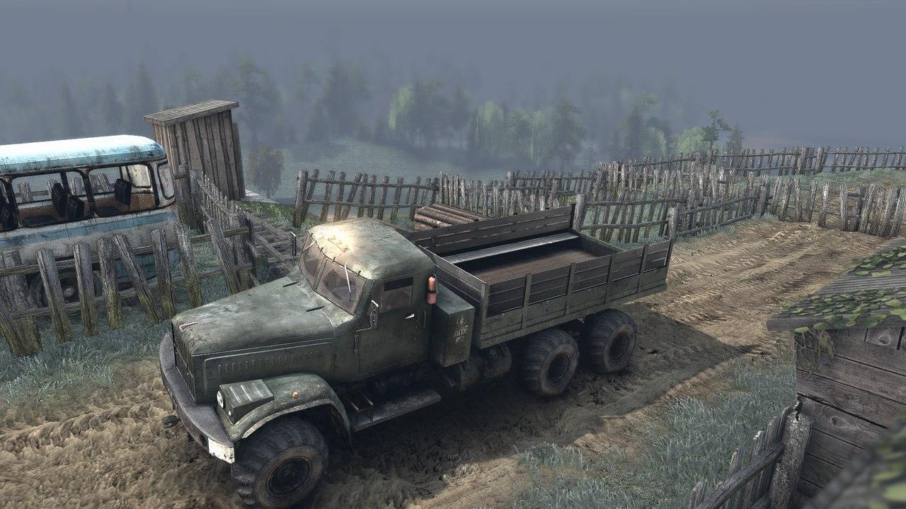"""Карта """"Озера"""" для Spintires - Скриншот 1"""
