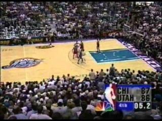 Финал НБА 1998 Юта- Чикаго, 6 игра, последние минуты