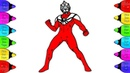 Ultraman Tiga Coloring Pages for kids | How to Coloring Ultraman Tiga | Ultraman, Ultraman tiga