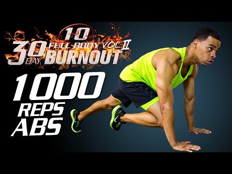 45 Min. 1000 Rep Abs Belly Burn Workout Challenge | Day 10 - 30 Day Full Body Burnout Vol. 2