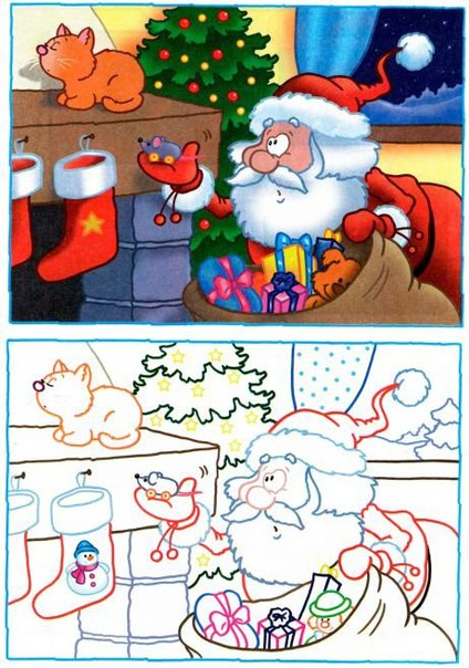 Новогодние головоломки для детей (8 фото)