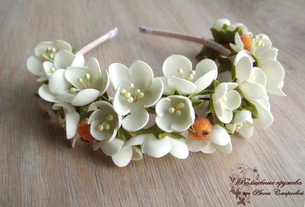 Ободки цветы из фоамирана мастер класс с