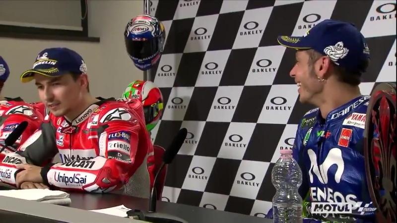Веселые шуточки ГП Италии от Росси и Лоренцо video@motogpru