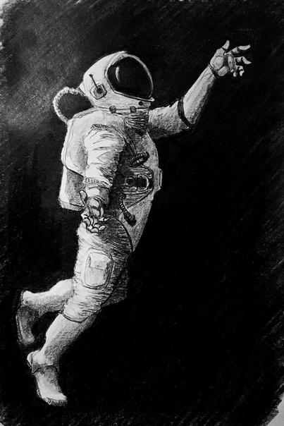 break dancing astronaut drawing - 403×604