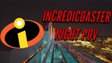 BEST Incredicoaster ride NIGHT POV 60FPS NEW 2018 Pixar Pier Disney California Adventure
