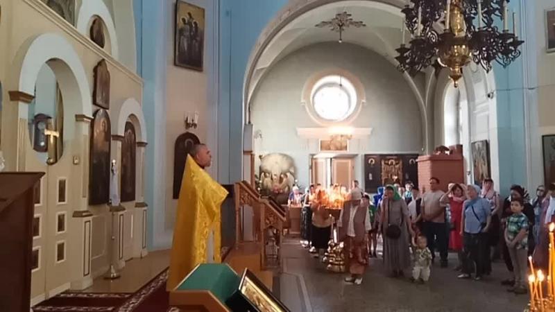 Служба в день 145-летия храма