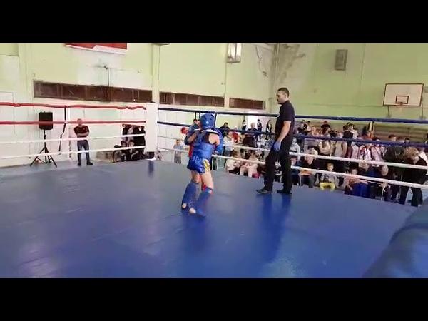 Второй бой Фомягина И. Финал. Тайский бокс. Синий угол. Тренер Ратманский. СК Black Horse