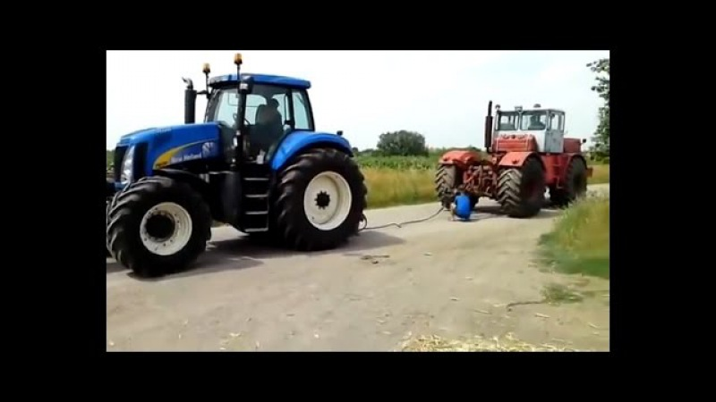 Битва тракторов, Кировец К-700, 701, 744 - против всех, перетягивание