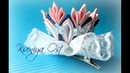 Корона канзаши с кружевом для Маленькой феи на заколке