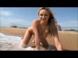 Naked girl on the beach 16.06.2014