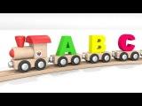 Comptines et chansons pour les petits en français. Le train de l'alphabet. Dessin animé éducatif.